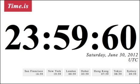 Αυτή την εξωπραγματική ώρα θα δείχνουν τα ρολόγια το τελευταίο δευτερόλεπτο στις 30 Ιουνίου 2015.